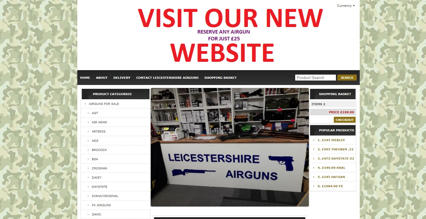Please visit our new website - Leicestershire Airguns